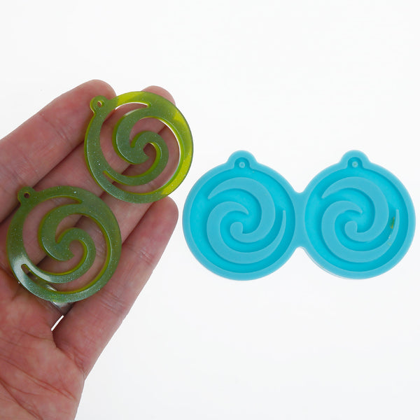 Silicone Earring Mold Round Earring Mold Resin Jewerly Earring Charm DIY Resin Earrings 10369757