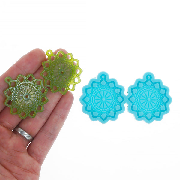 Silicone Flower Earring Mold Papercutting Earring Mold Resin Jewerly Earring Charm DIY Resin Earrings 10369758