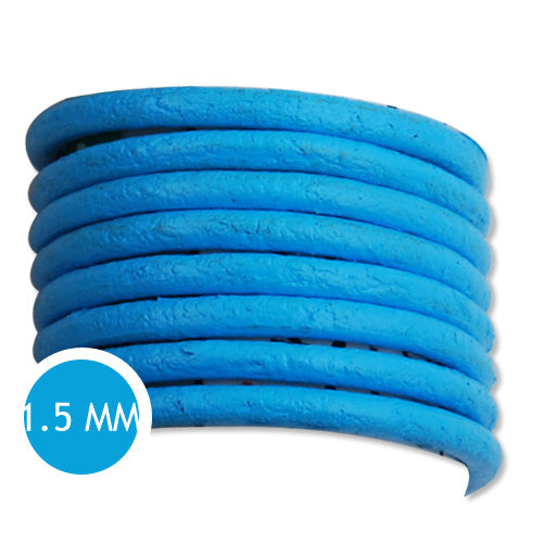 1.5mm Thickness Blue Round Leather Cord,Sold 50M/Roll