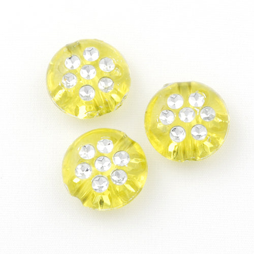 5*10 MM Plastic Beads with diamond,Sold per pkg of 2000 PCS
