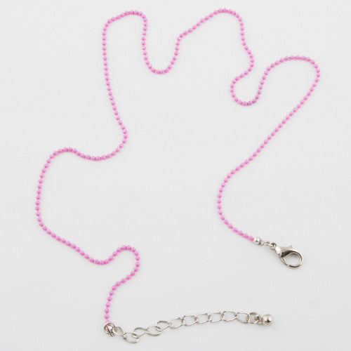 1.5MM Pink Ball Chain,45cm Long (17 Inch),Sold 20 Stripe Per package