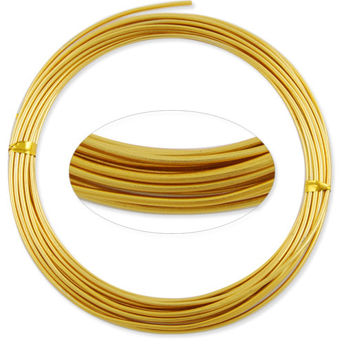 1.5MM Anodized Aluminum Wire, Light yellow Coated, round,5M/coil,Sold Per 10 coils