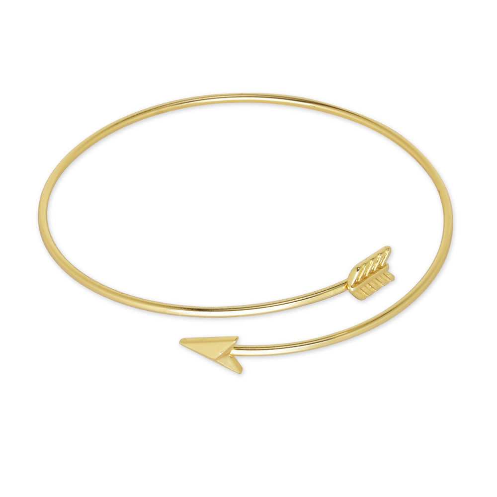 60mm Brass Arrow Cuff Bracelet adjustable Delicate arrow bangle bracelet Arrow Jewelry simple jewelry plated gold 1pcs