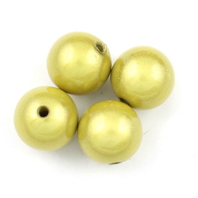 Top Quality 6mm Round Miracle Beads,Light Yellow,Sold per pkg of about 5000 Pcs