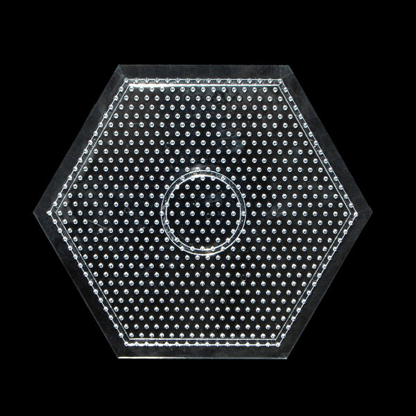 Clear Hexagon Hama bead pegboard hama bead template for 5mm Hama Beads Kid Craft 168mm,1pcs