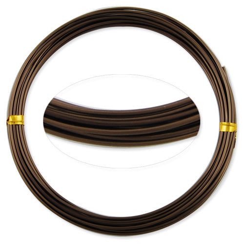 1.5MM Anodized Aluminum Wire,Deep Coffee Coated, round,5M/coil,Sold Per 10 coils