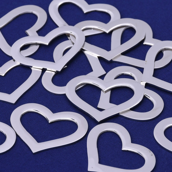 10 tibetara® Stainless Steel Heart Washer Stamping Blank about 32x25mm Heart Tags,Jewelry Tools Stamping Supplies
