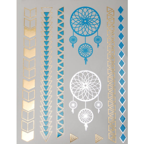 20*15mm Temporary Tattoos,Party Favors Metallic Tattoos,Waterproof Metallic Tattoos,Metallic Gold Temporary Tattoos,5pcs/lot