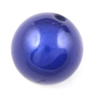 Top Quality 30mm Round Miracle Beads,Deep Blue,Sold per pkg of about 37 Pcs