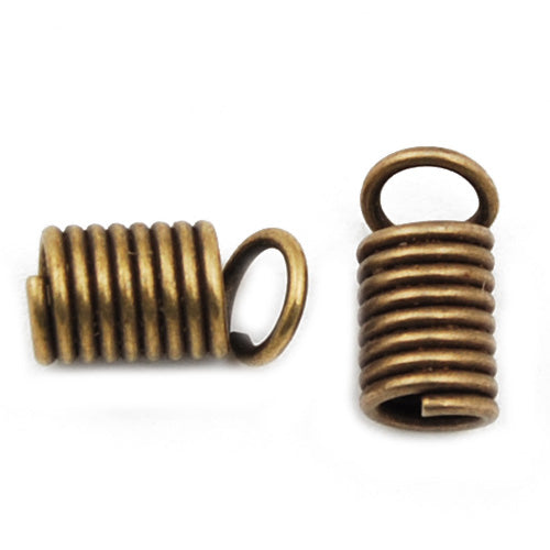 Metal Tension Spring,4.5MM,Antique Bronze,Sold 500 Pcs per pkg