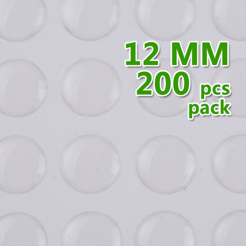 12mm Round Transparent Epoxy Domes Resin Cabochon Sticker,thick about 1.3mm,sold 200pcs per packae