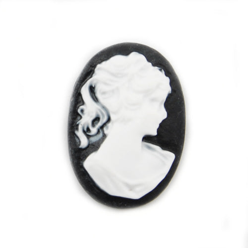 18*25MM White Oval Cameo Cabochon,Sold 50pcs per lot