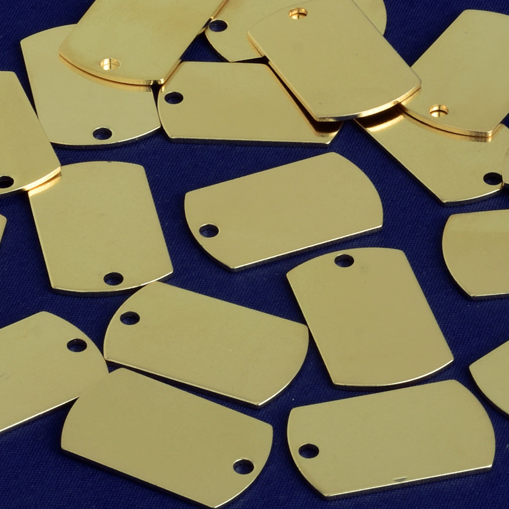 About 25*16mm tibetara® Stamping Blank Bar Charm Pendant Ready to engrave necklace bar blanks Craft Supplies plated gold 20pcs