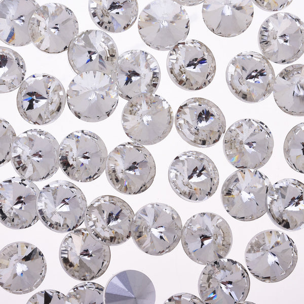 6mm Pointed Back Rhinestone glass crystals beads First Quality Crystal Handmade Satellite stone clear white 50pcs 10181550