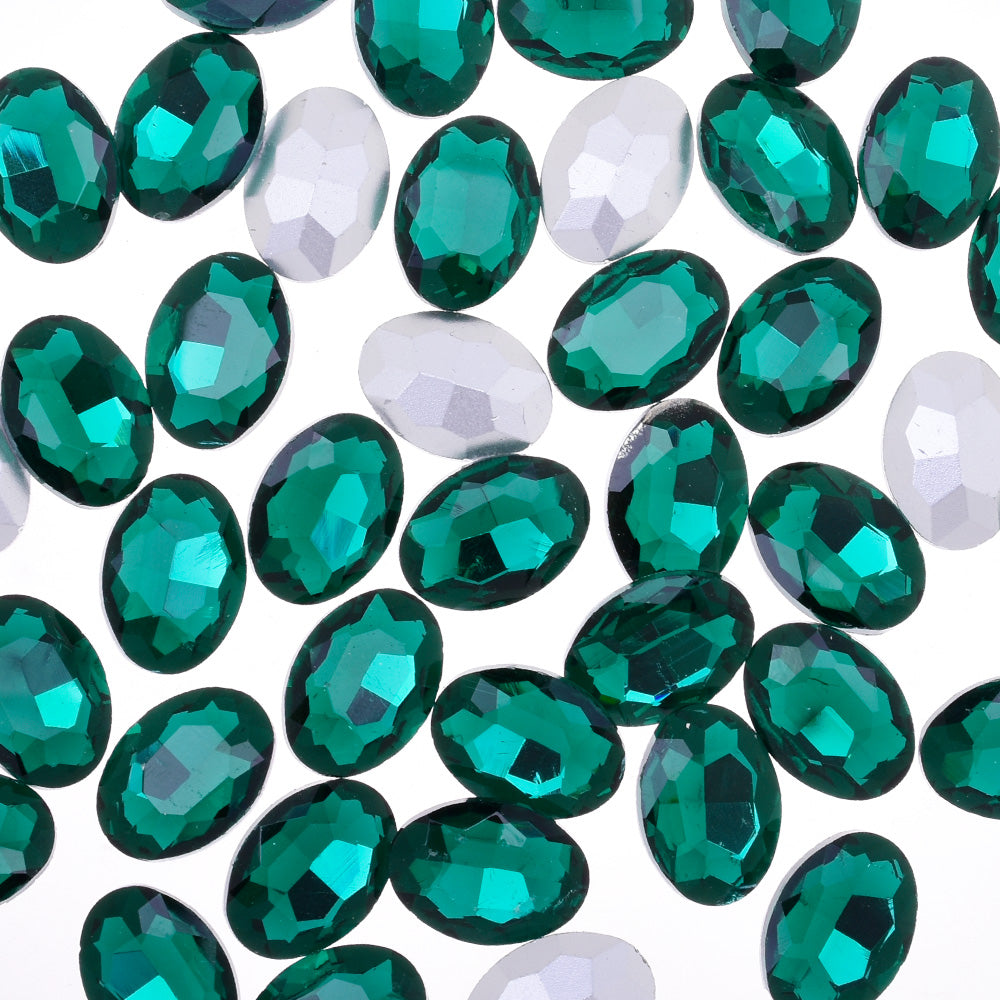 10x14mm Oval Pointed Back Rhinestones Glass Jewels point crystal Nail Art Craft Supply green 50pcs 10183853