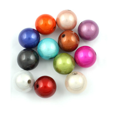Top Quality 6mm Round Miracle Beads,Mix colors,Sold per pkg of about 5000 Pcs