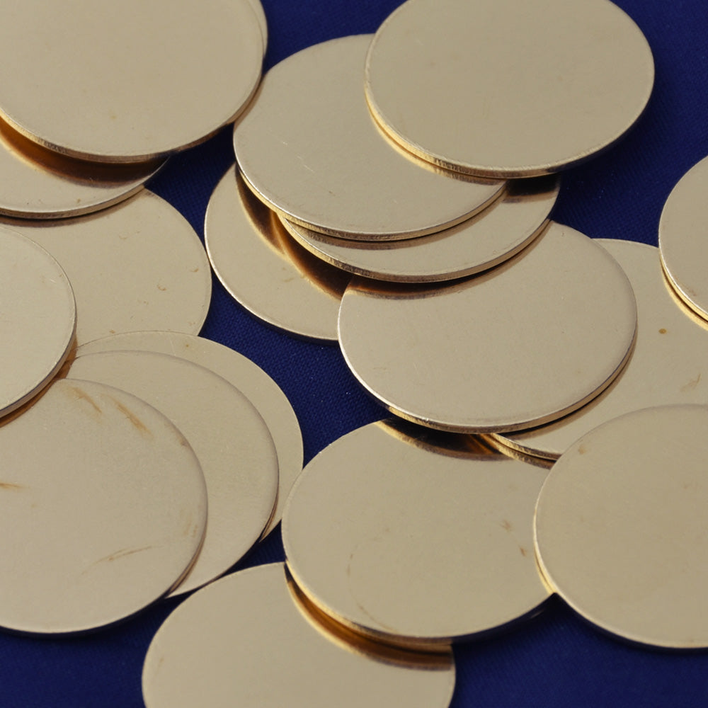 "20pcs about 1"" tibetara® Brass Round Stamping Blanks Fantastic Shine 18 Gauges DIY Stamping Blanks Jewelry"