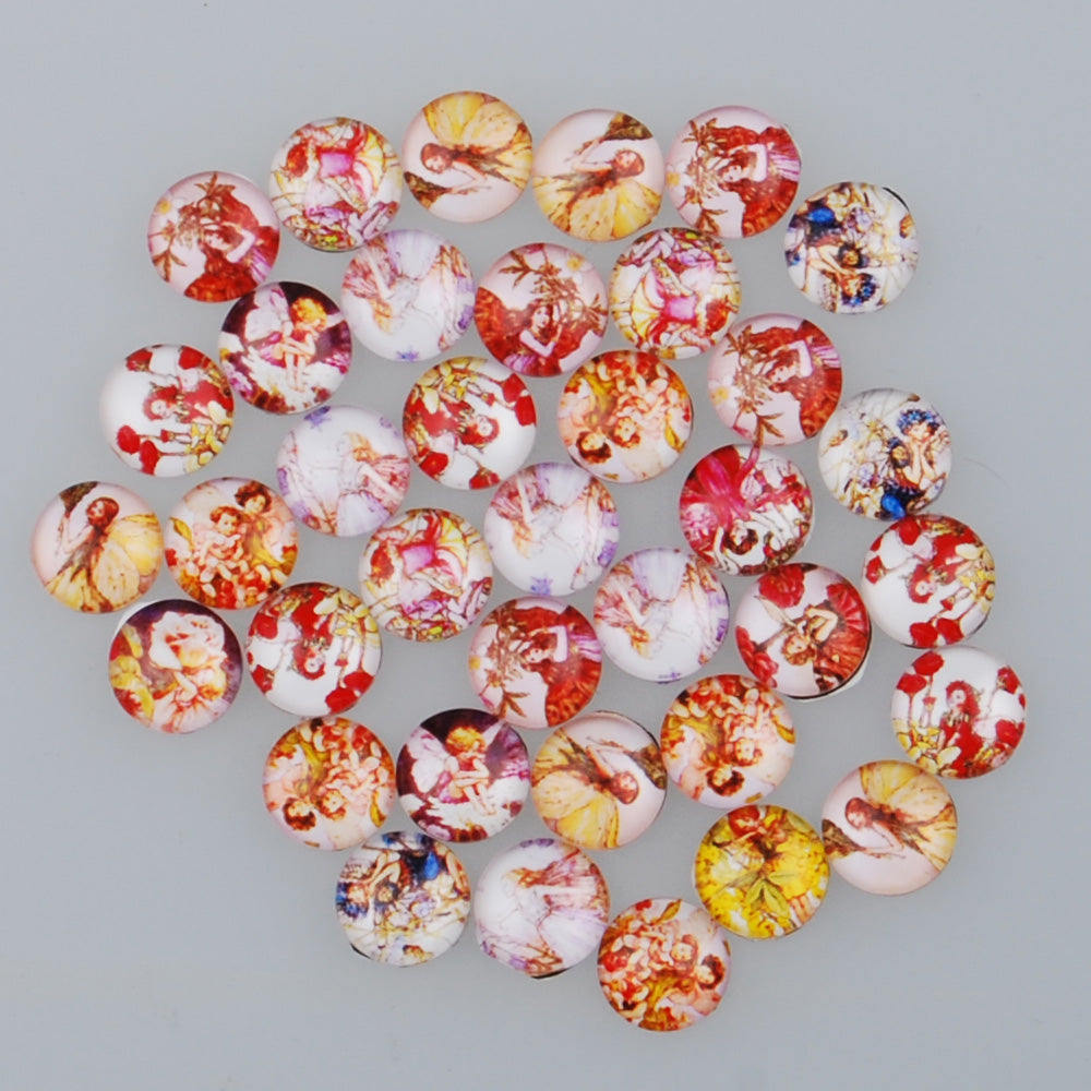 10MM Round glass cabochons with mixed lovely girls,Photo glass cabochons,flat back,thickness 4mm,50 pieces/lot