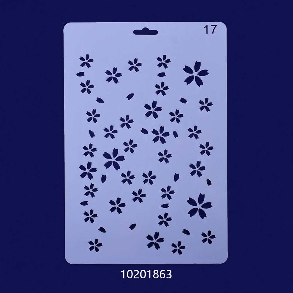 25*4.7cm Mylar Stencils Plastic stencil Reusable Mylar Stencils Planner and Craft Projects Dot Craft Stencil 1pcs 10201863