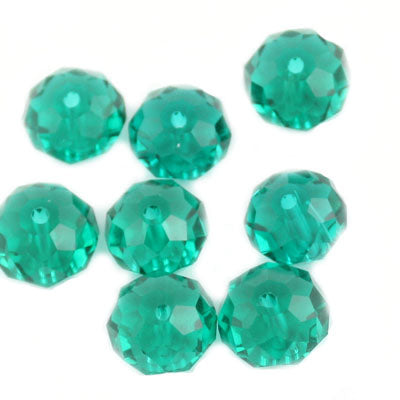 10 MM Rondelle,Erinite,Handmade Cut Glass Crystal Beads