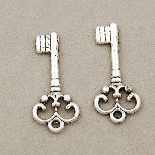 21.5*9.5 MM antique silver Zinc Alloy Charms,Key,Sold 200 PCS Per Package