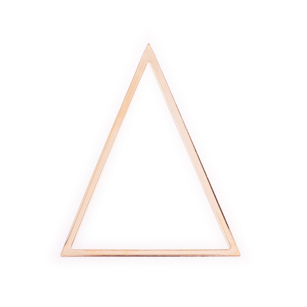 Minimal geometry earrings copper pendant Jewelry accessory Minimal Earrings 5*4.5cm gold Triangle 10pcs 10177604
