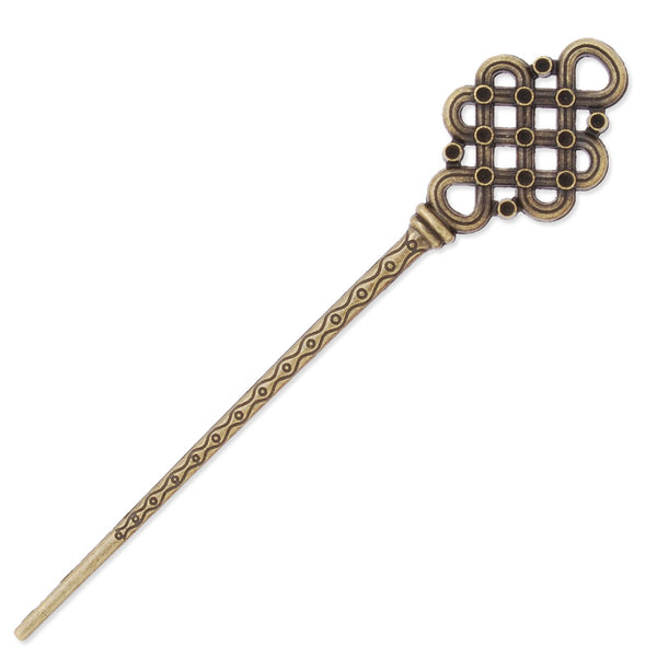 30x148mm Antique Bronze Hair Stick,Chinese knot,Metal Hair Stick, Hair Accessories,Hair Sticks Hairpin,10PCS/lot