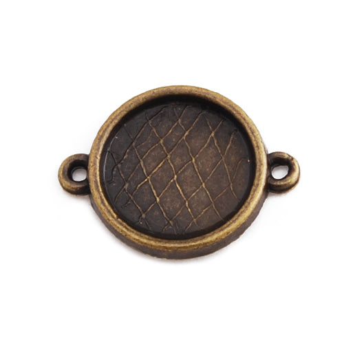 14MM Round Bracelet bezel,Antique Bronze Plated,Lead Free And Nickel Free,fit 14mm round glass cabochon,Sold 50PCS Per Pkg