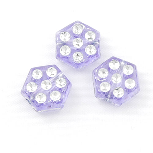5*8 MM Plastic Beads with diamond,Sold per pkg of 2200 PCS