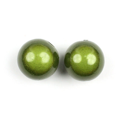 Top Quality 14mm Round Miracle Beads,Blackish Green,Sold per pkg of about 350 Pcs
