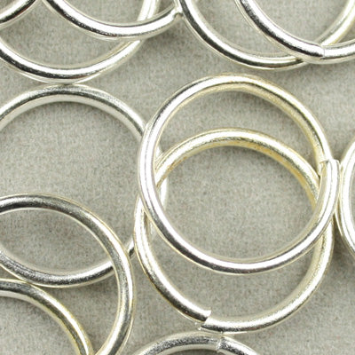 17 Gauge,500 Grams 12MM Round Metal Opened Jump Rings,Silver Plated,Lead free And Nickel free,Approx 1500PCS Per Pkg