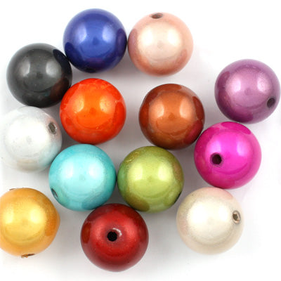 Top Quality 14mm Round Miracle Beads,Mix colors,Sold per pkg of about 350 Pcs