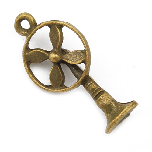 26*13mm Vintage antique bronze Zinc alloy charms,vintage electric fans,sold 100 pcs per pkg