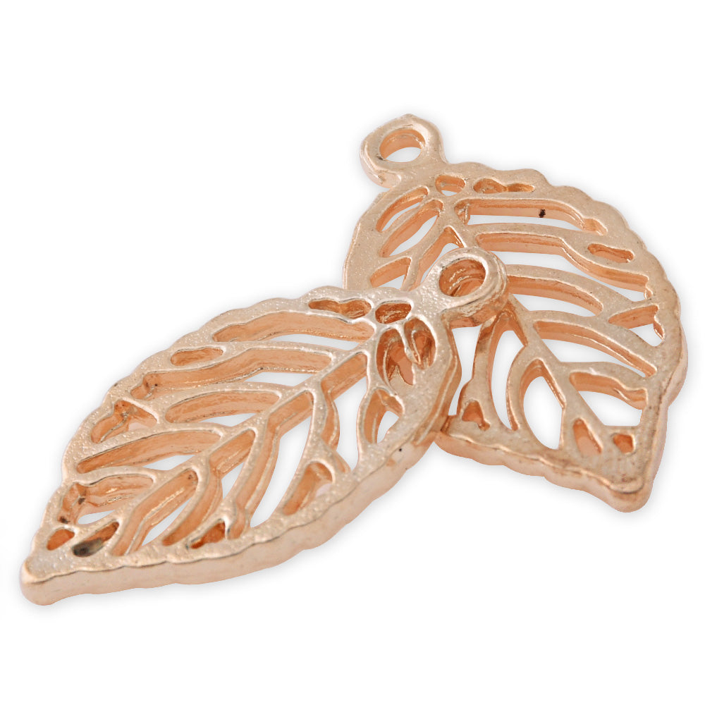 20 Gold 2.7*1.4cm Charm Alloy Leafs Metal Pendant accessories Jewelry findings Diy Handmade Pendants