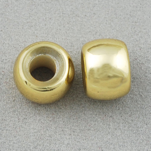 9*7 MM Coated Beads,Gold,Sold per by one package of 1800 PCS