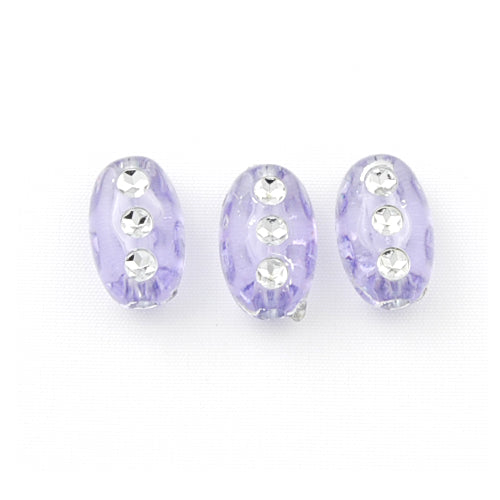 6*9.5 MM Plastic Beads with diamond,Sold per pkg of 3300 PCS