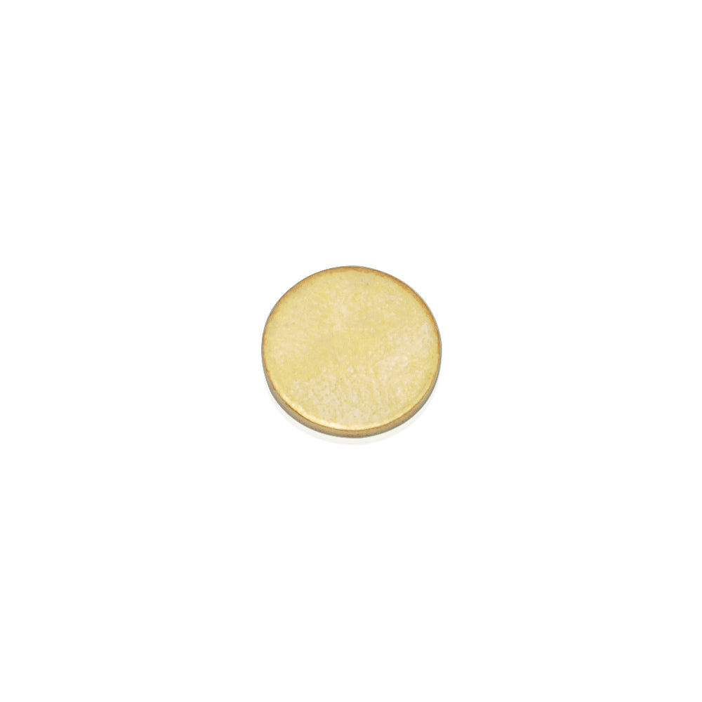 About 10mm  Nonporous circular sheet brass,Brass Blanks stamping blanks tags,Jewelry Making Discs,Thickness 1 mm,Metal,50pcs/lot