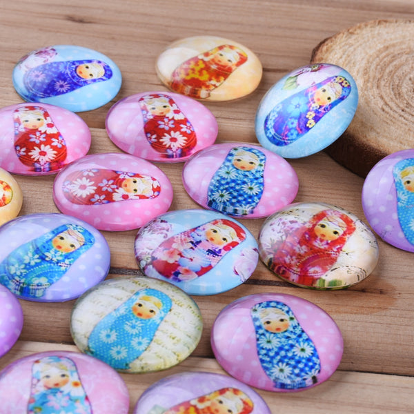 25MM Round colorful glass cabochons with mixed baby girls,Photo glass cabochons,flat back,thickness 7mm,20 pieces/lot