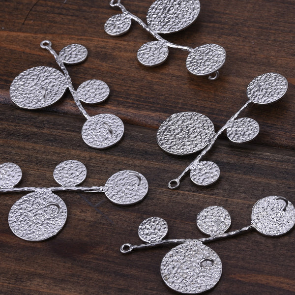2013-2014 Fashion 40*22MM  lovely modern charms,Charms with three holes,Matte Rhodium,suit for necklace/bracelet/earring ect,sold 10pcs per pkg