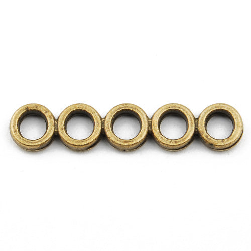 Casting Design Connectors,Antique Bronze Plated,30*6MM,Sold 200 pcs per pkg