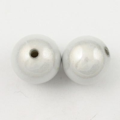 Top Quality 14mm Round Miracle Beads,White,Sold per pkg of about 350 Pcs