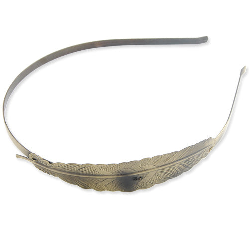 101*23 MM Leaf Headband,Antique Bronze Plated,Sold 10 PCS Per Package