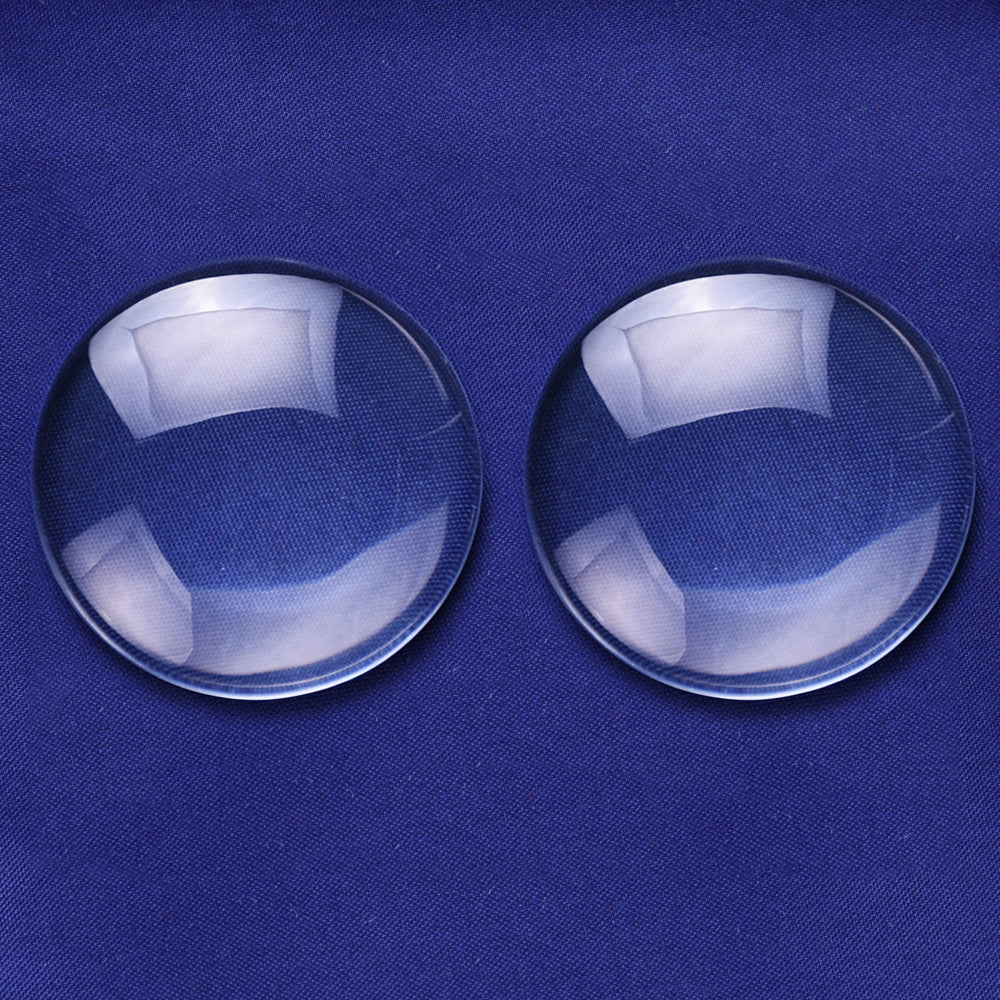 10PCS 45MM Round Flat Back clear Crystal glass Cabochon 10MM Thick Top quality
