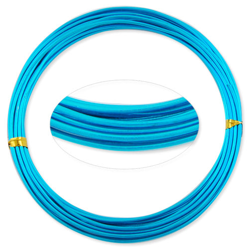1.5MM Anodized Aluminum Wire,Blue Coated, round,5M/coil,Sold Per 10 coils