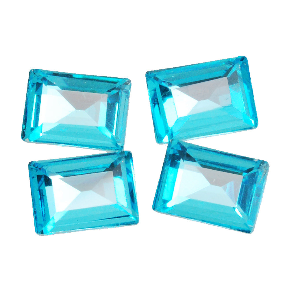 10*14mm Cartesian Rectangular bottom tip Crystal Fancy Stone,Lake Blue Crystal Faceted Stone,4527,20pcs/lot