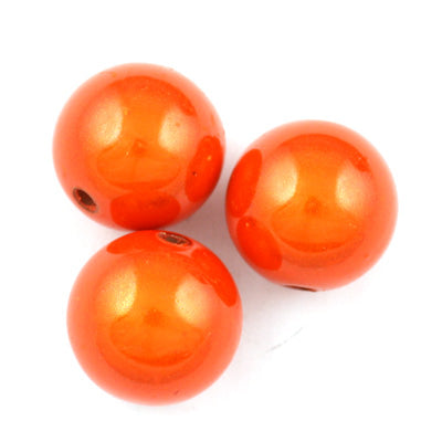 Top Quality 10mm Round Miracle Beads,Orange,Sold per pkg of about 1000 Pcs