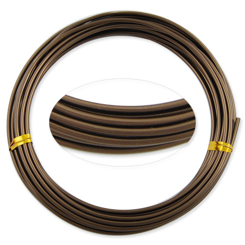 2.0MM Anodized Aluminum Wire,Deep Coffee Coated, round,5M/coil,Sold Per 10 coils