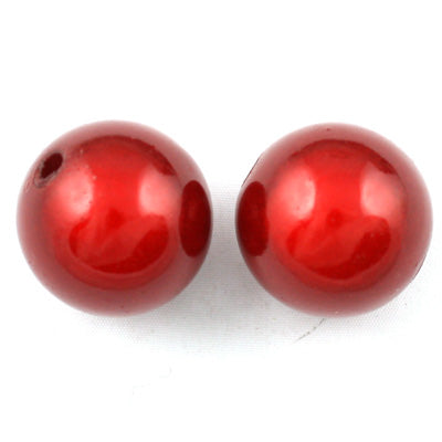 Top Quality 18mm Round Miracle Beads,Dark Red,Sold per pkg of about 170 Pcs