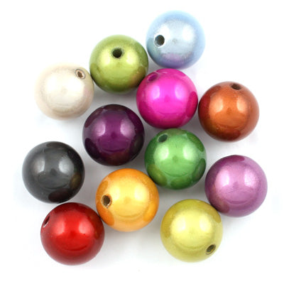 Top Quality 8mm Round Miracle Beads,Mix colors,Sold per pkg of 2000 Pcs