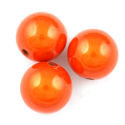 Top Quality 12mm Round Miracle Beads,Orange,Sold per pkg of about 560 Pcs